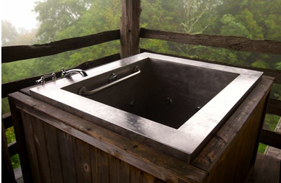 Japansk-inspirert badestamp:kar